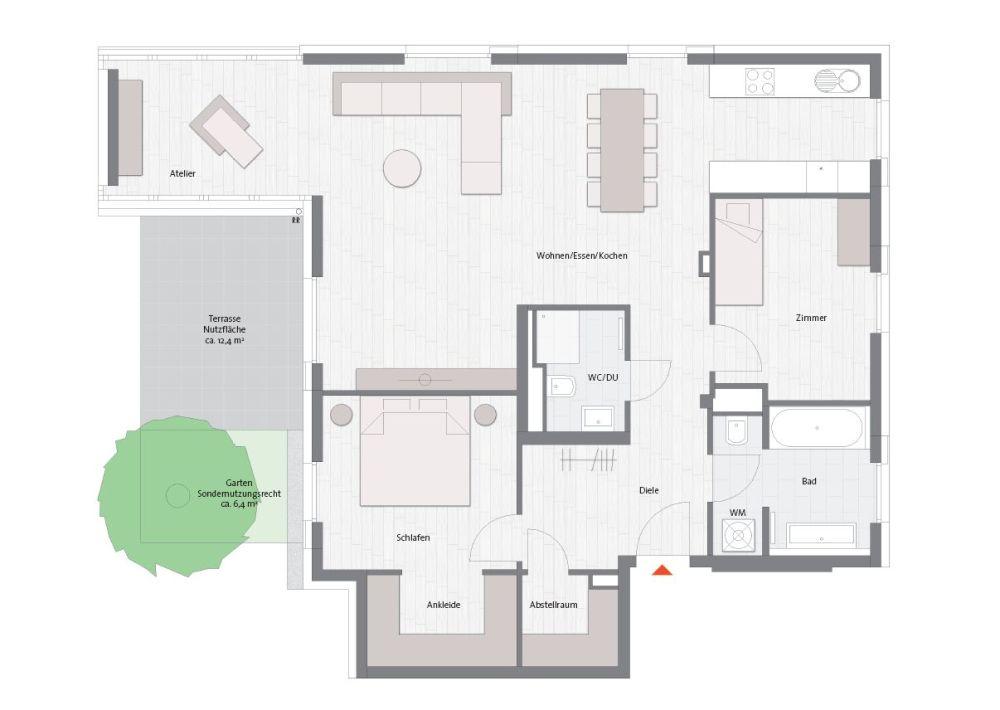 Фото №3 квартиры в Мюнхен за от 734.900 евро евро