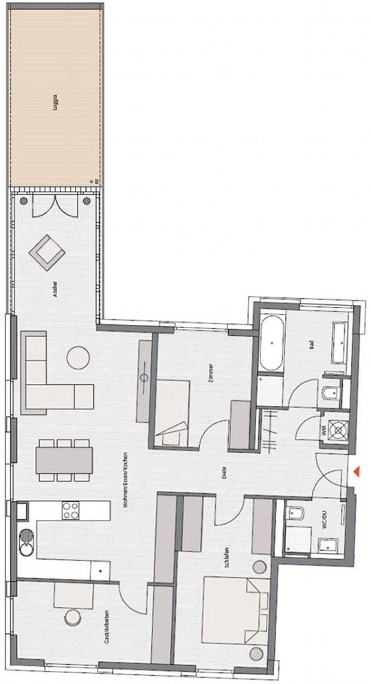 Фото №4 квартиры в Мюнхен за от 744.900 евро евро