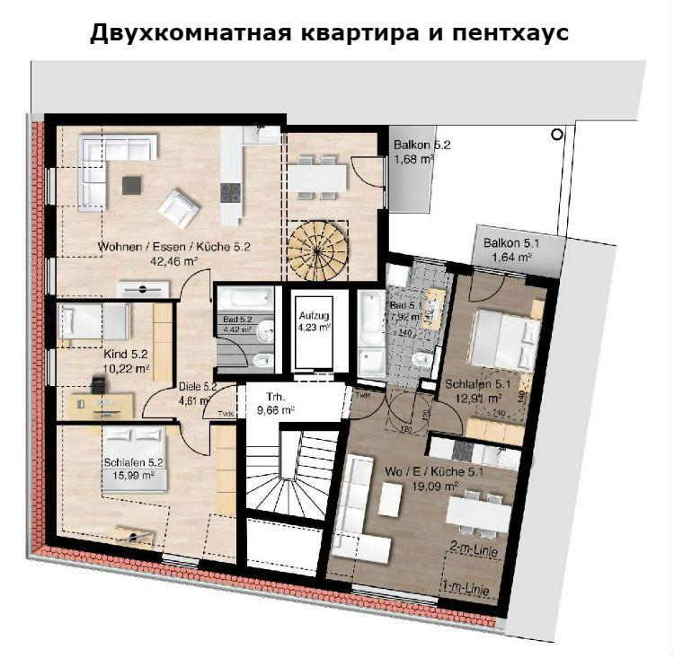 Фото №5 квартиры в Мюнхен за от 609.000 евро евро