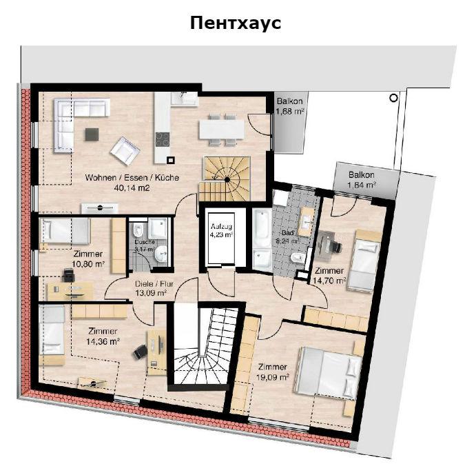 Фото №6 квартиры в Мюнхен за от 609.000 евро евро
